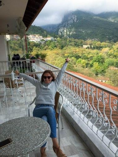 Widok z naszego hotelu Olympus View w Litochoro